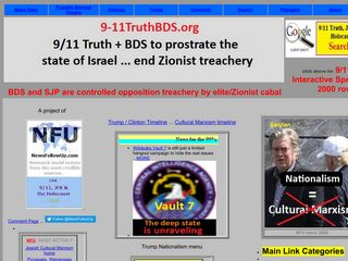 Screenshot of 9-11truthbds.org main page