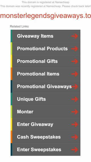 Mobile screenshot of Monsterlegendsgiveaways.top