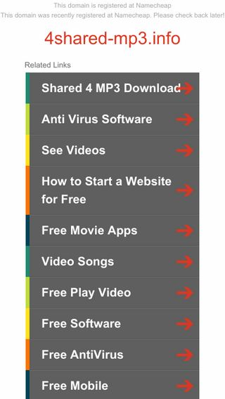 Mobile screenshot of 4shared-mp3.info