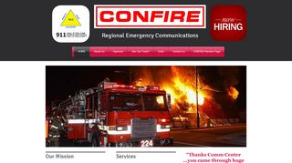 Screenshot of Confire.org main page