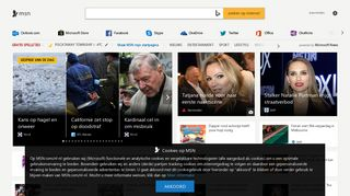 Screenshot of Explorer.msn.nl main page