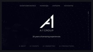 Screenshot of A-1.group main page