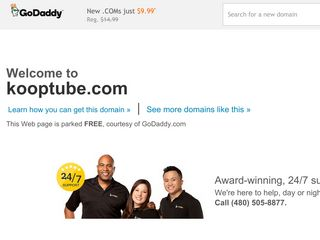 Screenshot of Kooptube.com main page