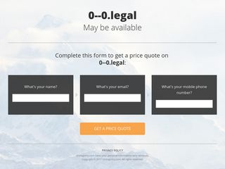 Screenshot of 0--0.legal main page