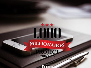 Screenshot of 1000millionairesproject.com main page