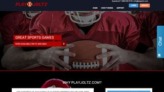 Screenshot of Playjoltz.com main page