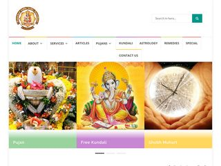 Screenshot of Hanumatnidhi.com main page