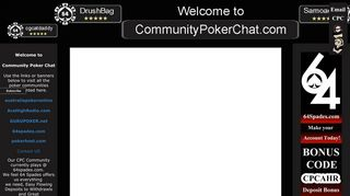 Screenshot of Communitypokerchat.com main page