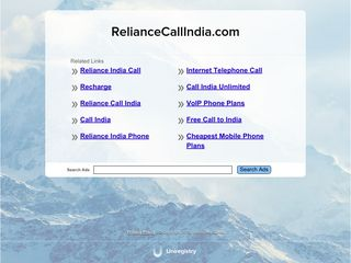Screenshot of Reliancecallindia.com main page