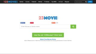 Screenshot of 123freemovies.net main page