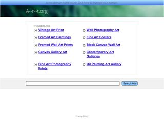 Screenshot of A--r--t.org main page