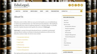 Screenshot of Edulegal.org main page
