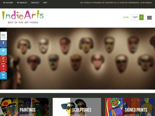 Screenshot of Indiearts.in main page