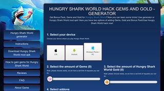 Screenshot of Hungrysharkworldgems.online main page