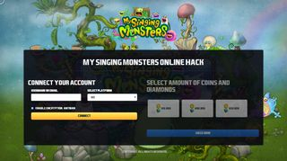 Screenshot of Mysingingmonstersgiveaways.top main page