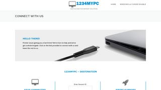 Screenshot of 1234mypc.com main page