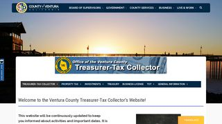 Screenshot of Venturapropertytax.org main page