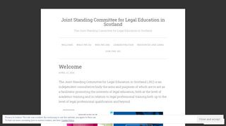 Screenshot of Jsclegaleducation.org main page