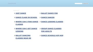 Screenshot of Dancebox.biz main page