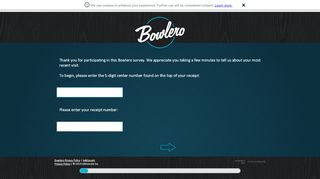 Screenshot of Bowlerosurvey.com main page