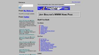 Screenshot of Boulter.com main page
