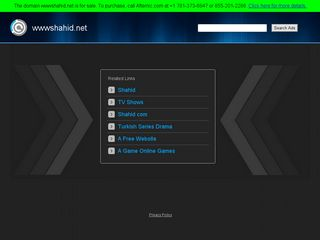 Screenshot of Wwwshahid.net main page