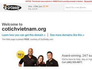 Screenshot of Cotichvietnam.org main page