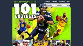 Screenshot of 101bodybets.com main page