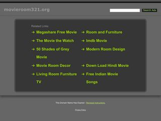 Screenshot of Movieroom321.org main page