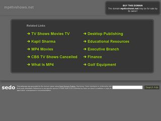 Screenshot of Mp4tvshows.net main page