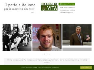 Screenshot of Ricordidivita.it main page