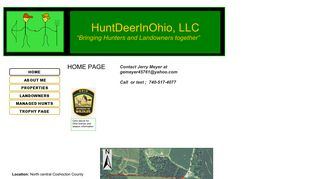 Screenshot of Huntdeerinohio.com main page