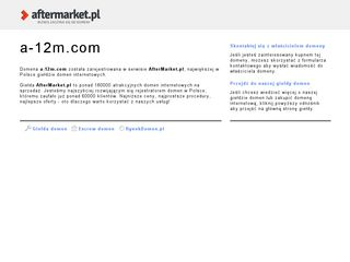 Screenshot of A-12m.com main page