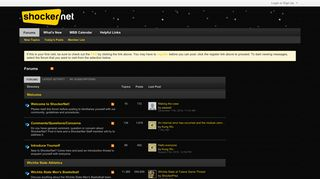 Screenshot of Shockernet.net main page