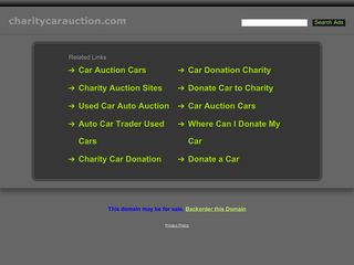 Screenshot of Charitycarauction.com main page