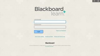 Screenshot of Blackboard.cameron.edu main page