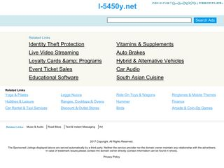 Screenshot of L-5450y.net main page