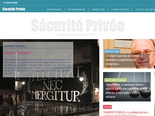 Screenshot of Securite-privee.org main page