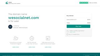 Screenshot of Wesocialnet.com main page