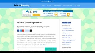 Screenshot of Unblockstreaming.com main page
