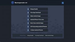 Screenshot of Mymangareader.net main page