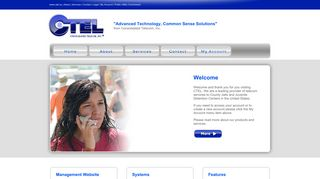 Screenshot of Ctel.us main page