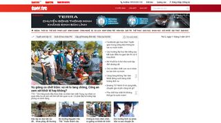 Screenshot of Tuoitre.vn main page