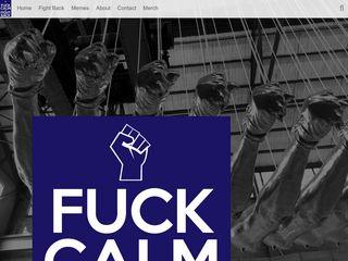 Screenshot of F--kcalmfightback.net main page