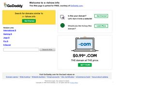 Screenshot of S--tshow.info main page