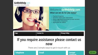 Screenshot of Gowebhelp.dating main page