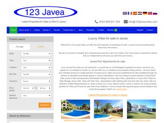 Screenshot of 123javea.com main page