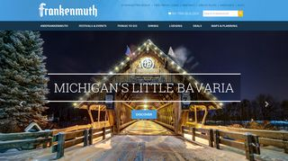 Screenshot of Frankenmuth.org main page