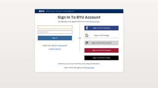 Screenshot of Booklist.byu.edu main page