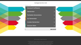 Screenshot of Nextgenerator.net main page